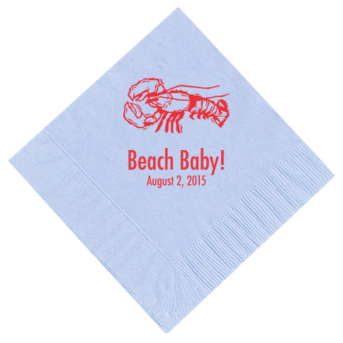 Lobster Personalized Napkins