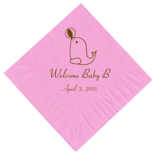 Baby Seal Personalized Napkins