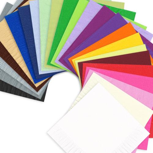 Unprinted Color Napkins Beverage, Luncheon & Towels