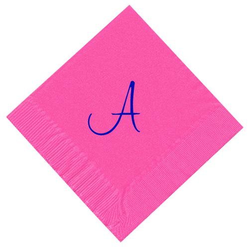 Single Handwritten Monogram Personalized Napkins