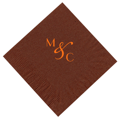 Angled Dual Letter Initial Personalized Napkins