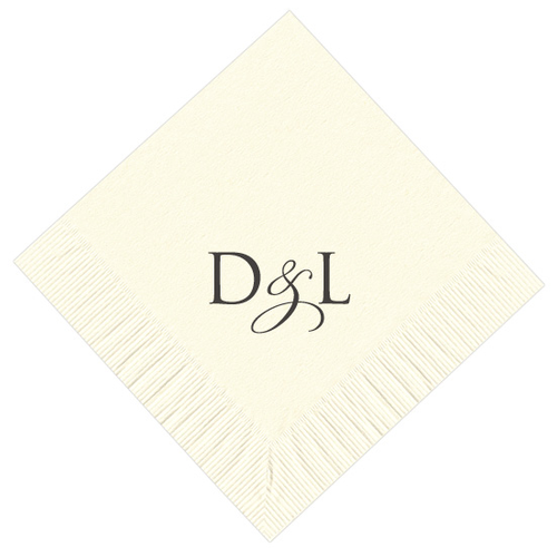 Elegant Dual Letter Initial Personalized Napkins