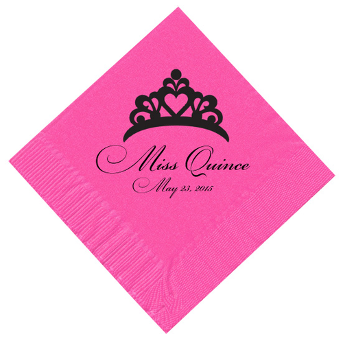 Crown Personalized Napkins
