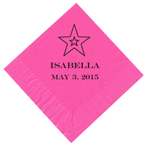 Double Star Personalized Napkins