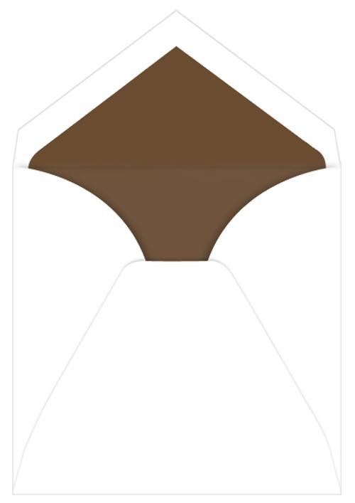 Chocolate Lined Inner Ungummed Envelopes, Royal Radiant White