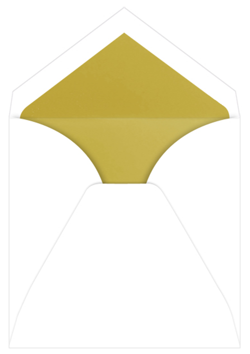Gold Lined Inner Ungummed Envelopes, Royal Radiant White