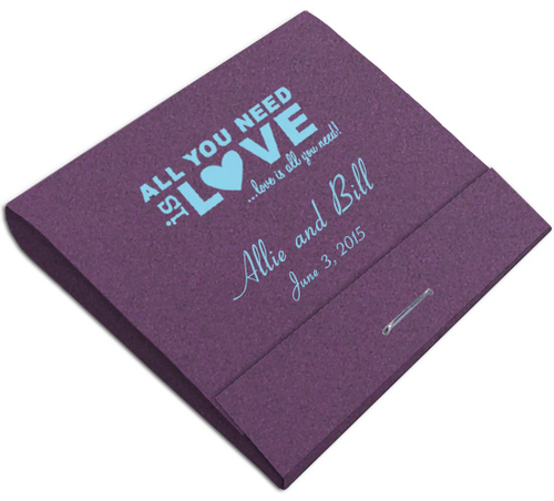 All You Need is Love Custom Printed Matches