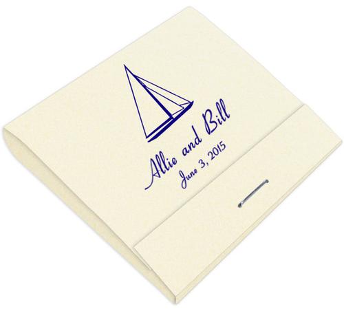 Sailboat Custom Printed Matches