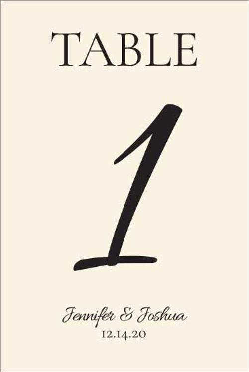 Table Number Cards (D1): Ecru