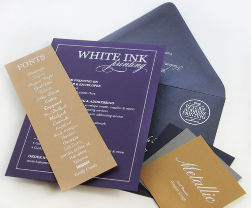 White Ink Print Sample Kit