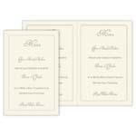 Embossed Perforated Menus