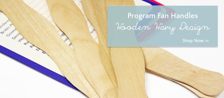 8 inch wavy wooden sticks for wedding program fans or paper crafts