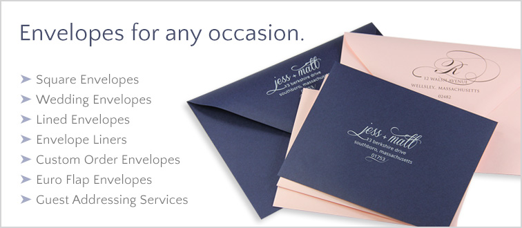 Shop envelopes for invitations & weddings at LCI Paper