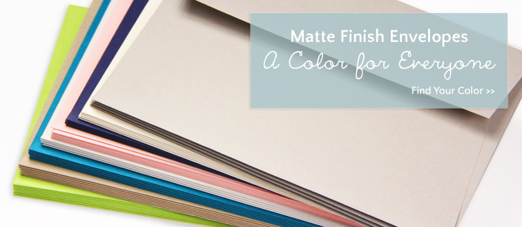 Shop colorful matte finish invitation envelopes
