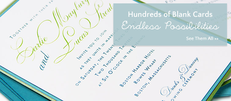 Use LCI's selection of blank cards to create your own invitations