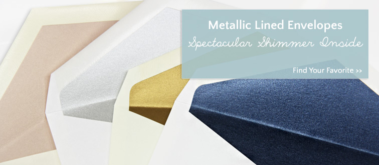 Metallic lined envelopes from LCI Paper - lined in Stardream paper and Curious Metallics paper