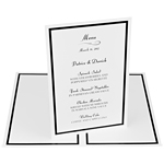 Foil Perforated Menu Cards