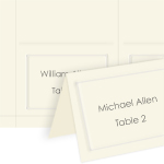 Embossed 4Up Place Cards