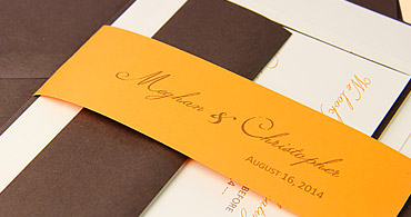 Banded Invitation Suite