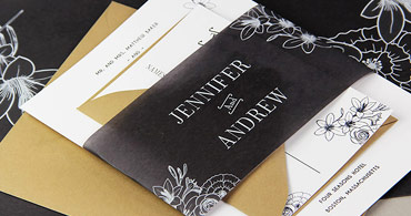 Black Vellum Invitations
