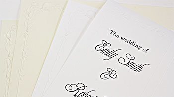 Calla Lily Wedding Programs