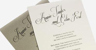 Calligraphy Look Invites