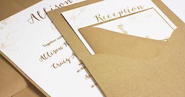 Wood Pocket Invites