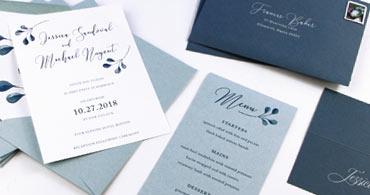 Dusty Blue Paper & Envelopes