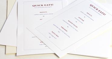 Embossed 2up Printable Blank Cards