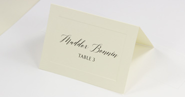 Embossed Printable Place Cards