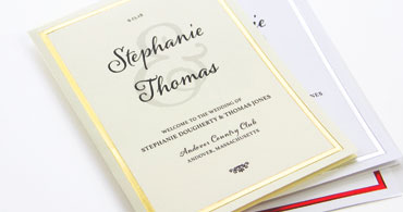 Foil Wedding Programs