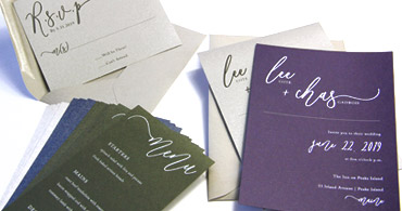 Colors Metallic Blank Cards
