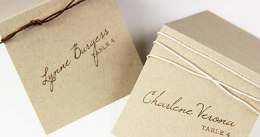 Kraft Place Cards