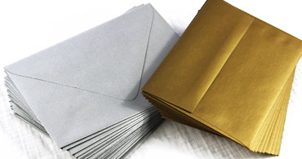 Silver & Gold Envelopes