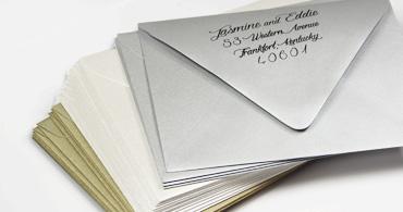 Metallic Wedding Envelopes