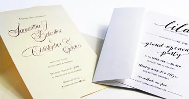 Metallic Invitations
