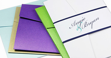 Metallic Pocket Invitations