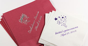 Personalized Quinceanera Napkins