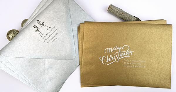 Silver & Gold Metallic Envelopes