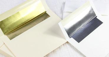 Silver & Gold Lined Envelopes