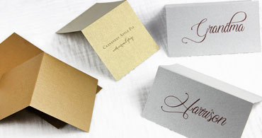 Silver & Gold Place Cards