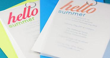 Vellum Summer Invites