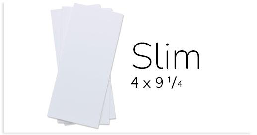 Slim Cards - 4 x 9 1/4 Card Stock