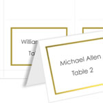 Foil Border 4Up Place Cards