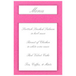 Glider Menu Cards For Weddings