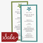 Menu Cards Sale