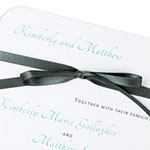 Rounded With Ribbon Invitation