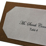 Woodgrain Layered Place Card