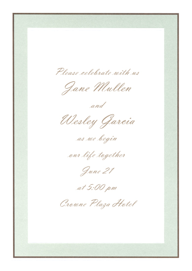 Printable Sage & Chocolate Wedding Invitation (50 Pack)