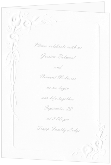 Calla Lily Wedding Invitation - White (50 Pack)
